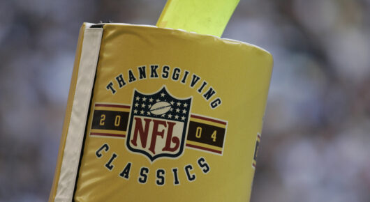 NFL Thanksgiving Classic Signage On A Flag